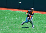Bronx(NY)'s Angel Presinal dives for the ball during the Cal Ripken Babe Ruth World Series in Aberdeen, Maryland on August 12, 2012