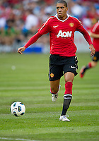 July 16, 2010 Chris Smalling No. 12 of Manchester United  during an international friendly between Manchester United and Celtic FC at the Rogers Centre in Toronto.