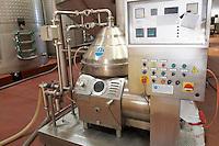centrifugation unit control panel bodegas frutos villar , cigales spain castile and leon