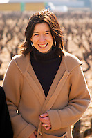 Agathe Lagarde, maitre de chai winemaker, in the vineyard at Domaine Fontavin, Chateauneuf-du-Pape, Vaucluse, Rhone, Provence, France