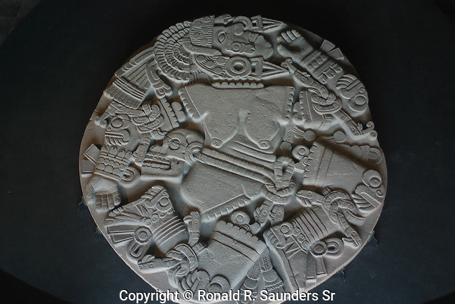 STONE CARVED AZTEC GOD ART
