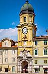 Kroatien, Kvarner Bucht, Rijeka: Der Stadtturm | Croatia, Kvarner Gulf, Rijeka: the city tower