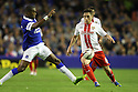Greg Tansey of Stevenage takes on Sylvain Distin of Everton<br />  - Everton v Stevenage - Capital One Cup Second Round - Goodison Park, Liverpool - 28th August, 2013<br />  © Kevin Coleman 2013