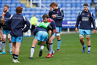 London Scottish attack the pads during the Greene King IPA Championship match between London Irish Rugby Football Club  and London Scottish Football Club at the Madejski Stadium, Reading, England on 2 March 2019. Photo by Carlton Myrie.