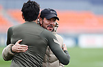 Atletico de Madrid's Stefan Savic and coach Diego Pablo Cholo Simeone during training session. April 28,2021.(ALTERPHOTOS/Atletico de Madrid/Pool)