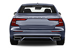 Straight rear view of a 2019 Volvo S60 R-Design 4 Door Sedan stock images