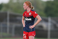 Piscataway, NJ - Saturday July 23, 2016: Tori Huster during a regular season National Women's Soccer League (NWSL) match between Sky Blue FC and the Washington Spirit at Yurcak Field.