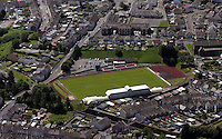 Aerial view of Stebonheath home ground of Llanelli AFC