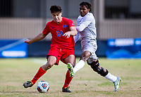 Washington,D.C. - Sunday, November 19, 2017: SMU defeated Georgetown 2-1 on an own goal with 14 seconds left in the second overtime in the second round of the NCAA Div. 1 men's soccer championship at Shaw Field.