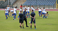 players of Gent  pictured during the warming up of a female soccer game between FC Femina White Star Woluwe and AA Gent Ladies on the third matchday in the 2021 - 2022 season of Belgian Scooore Womens Super League , friday 3 th of September 2021  in Woluwe , Belgium . PHOTO SPORTPIX   SEVIL OKTEM