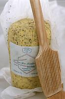 Europe/France/Bretagne/35/Ille-et-Vilaine/Saint-Malo: Beurre de Baratte demi sel aux Algues chez Jean Yves Bordier Fromager Cremier 9 rue de l'Orme