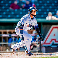18 July 2018: New Hampshire Fisher Cats infielder Juan Kelly in action against the Trenton Thunder at Northeast Delta Dental Stadium in Manchester, NH. The Fisher Cats defeated the Thunder 3-2 in a 7-inning, second game of the day. Mandatory Credit: Ed Wolfstein Photo *** RAW (NEF) Image File Available ***