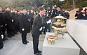 Former South Korean presidential candidate Ahn Cheol-Soo visits the National Cemetery in Seoul