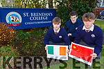 St Brendans College students l-r: Darragh Fleming, Ronan O'Mahony and Rian Colleran whose dream trip to China is in jeopardy due to the outbreak of the Corona Virus