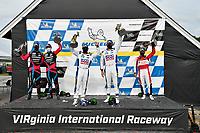 #86 Meyer Shank Racing w/Curb-Agajanian Acura NSX GT3, GTD: Mario Farnbacher, Matt McMurry, #96 Turner Motorsport BMW M6 GT3, GTD: Robby Foley III, Bill Auberlen, #48 Paul Miller Racing Lamborghini Huracan GT3, GTD:  Bryan Sellers