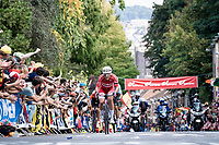 Michael Valgren (DEN/EF Education - Nippo) up the Wijnpersstraat<br /> <br /> Elite Men World Championships - Road Race<br /> from Antwerp to Leuven (268.3km)<br /> <br /> UCI Road World Championships - Flanders Belgium 2021<br /> <br /> ©kramon