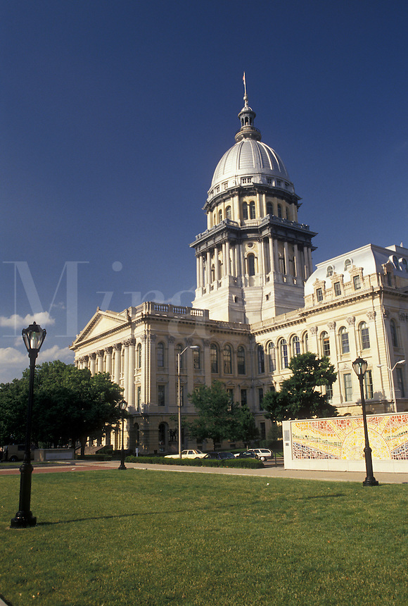Springfield, State Capitol, IL, Illinois, State House, The State Capitol Building in the capital city of Springfield.