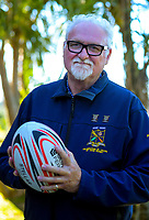 "Western Roosters Mixed Veges senior 4 rugby manager Ray ""The Kernel"" Simpson in Wellington, New Zealand on Tuesday, 24 February 2020. Photo: Dave Lintott / lintottphoto.co.nz"