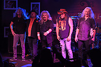 BOCA RATON - FEBRUARY 26: Shawn Beamer, Bobby Ingram, Jimmy Elkins, Tim Lindsey and John Galvin of Molly Hatchet perform at The Funky Biscuit on February 26, 2021 in Boca Raton, Florida. Credit: mpi04/MediaPunch