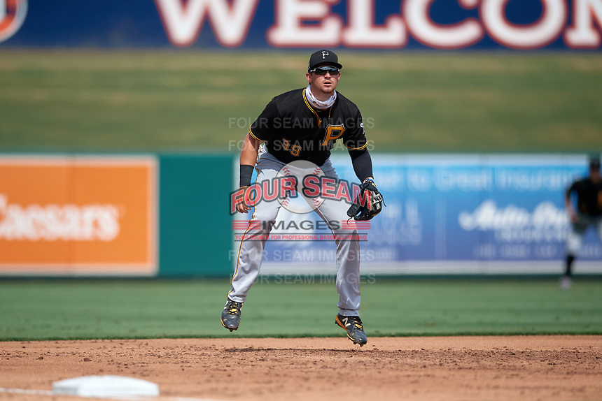 Pittsburgh Pirates third baseman Jared Triolo (39) during a Florida Instructional League game against the Detroit Tigers on October 16, 2020 at Joker Marchant Stadium in Lakeland, Florida.  (Mike Janes/Four Seam Images)