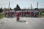 The start of Stage 6 of the 78th edition of Paris-Nice 2020, running 161.5km from Sorgues to Apt, France. 13th March 2020.<br /> Picture: ASO/Fabien Boukla | Cyclefile<br /> All photos usage must carry mandatory copyright credit (© Cyclefile | ASO/Fabien Boukla)