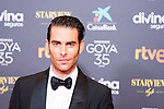 Jon Kortajarena attends the red carpet previous to Goya Awards 2021 Gala in Malaga . March 06, 2021. (Alterphotos/Francis González)