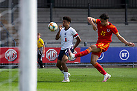 3rd September 2021; Newport, Wales:  Daniel Davies 15 Wales clears the ball during the U18 International Friendly match between Wales and England at Newport Stadium in Newport, Wales.