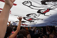 """Memoria è Lotta (Memory is Struggle); Per Non DimentiCarlo (To Not Forget Carlo).<br /> <br /> Presidio in Piazza Alimonda, Rally in Piazza Alimonda (AKA Piazza Carlo Giuliani, Ragazzo) where at 17:27 of the 20th July 2001 the 23-year-old-demonstrator Carlo Giuliani - who was carrying over his head a fire extinguisher - was killed by firearm bullets shot by the 20-year-old Carabinieri's (police) officer Mario Placanica and then run over twice by a Carabinieri's Land Rover.<br /> <br /> Genoa, Italy. 19, 20, 21 July 2021. Twenty years after the dramatic and terrifying events related to the 2001 Genoa's G8 meeting, according to Amnesty International: """"the most serious suspension of democratic rights in a Western country since the Second World War"""" (1.) and as stated on the 2001 """"Report on the situation of fundamental rights in the EU"""" the European Parliament """"deplores the suspensions of fundamental rights that took place during public demos, and in particular at the G8 meeting in Genoa, such as freedom of expression, freedom of movement, the right to physical integrity"""" (2.). As a reminder, the City of Genoa is State Gold Medal (Medaglia D'Oro) for its Antifascist Resistance in World War II.<br /> Some photos, part of this story, are presented appositely in Black & White to show to the audience """"the Places"""" where the majority of - the already mentioned (see above) - """"suspensions of fundamental rights […] such as freedom of expression, freedom of movement, the right to physical integrity"""" (2.) happened.<br /> ...<br /> <br /> FULL CAPTION & LINKS AT THE BEGINNING OF THIS STORY.<br /> <br /> Footnotes, Links:<br /> <br /> 1. http://bit.do/fRvdg<br /> 2. http://bit.do/fRvdi<br /> <br /> http://www.veritagiustizia.it/doc_eng/<br /> https://www.carlogiuliani.it<br /> https://en.wikipedia.org/wiki/Death_of_Carlo_Giuliani<br /> The bloody battle of Genoa (Source, The Guardian, 2008): http://bit.do/fRvB2"""