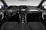 Stock photo of straight dashboard view of 2017 Honda Accord Touring 2 Door Coupe Dashboard