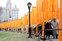 """""""The Gates, Central Park, 1979-2005"""" opens on February 12, 2005."""