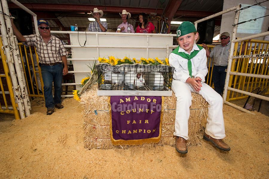 74th Amador County Fair, Plymouth, Calif...Junior Livestock Auction--rabbits