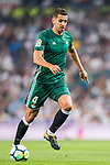 Zouhair Feddal Agharbi of Real Betis in action during the La Liga 2017-18 match between Real Madrid and Real Betis at Estadio Santiago Bernabeu on 20 September 2017 in Madrid, Spain. Photo by Diego Gonzalez / Power Sport Images