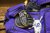 LSU Tigers equipment bag on March 8, 2015 at Minute Maid Park in Houston, Texas. (Andrew Woolley/Four Seam Images)