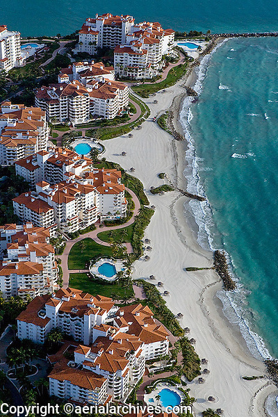 aerial photograph beach Fisher Island Florida
