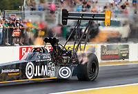 Sep 21, 2018; Madison, IL, USA; NHRA top fuel driver Lex Joon during qualifying for the Midwest Nationals at Gateway Motorsports Park. Mandatory Credit: Mark J. Rebilas-USA TODAY Sports