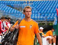 12-09-12, Netherlands, Amsterdam, Tennis, Daviscup Netherlands-Swiss, Training Netherlands,  Thiemo de Bakker.