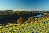 Uplawmoor and Loch Libo from Lochliboside Hills, East Renfrewshire<br /> <br /> Copyright www.scottishhorizons.co.uk/Keith Fergus 2011 All Rights Reserved