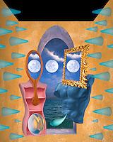 Digital illustration: lovers/ Reproduction.