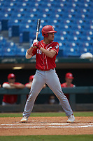 Ian Moller (40) of Wahlert Catholic School in Dubuque, IA playing for the Cincinnati Reds scout team during the East Coast Pro Showcase at the Hoover Met Complex on August 5, 2020 in Hoover, AL. (Brian Westerholt/Four Seam Images)