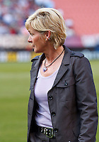22 MAY 2010:  Germany WNY Coach Silvia Neid during the International Friendly soccer match between Germany WNT vs USA WNT at Cleveland Browns Stadium in Cleveland, Ohio. USA defeated Germany 4-0 on May 22, 2010.