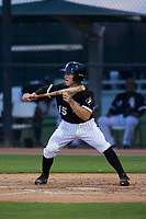AZL White Sox third baseman JJ Muno (15) squares to bunt against the AZL Athletics on July 20, 2017 at Camelback Ranch in Glendale, Arizona. AZL Athletics defeated the AZL White Sox 5-2. (Zachary Lucy/Four Seam Images)