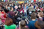 Drum circle. Climate Camp in the City - G20 - London (©Robert vanWaarden)