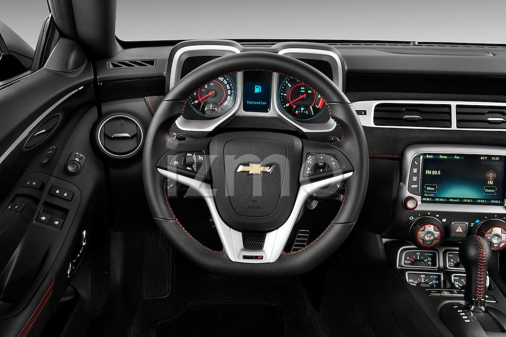 2013 Chevrolet Camaro ZL1 coupe Steering wheel Stock Photo