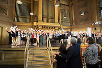 Whiffenpoofs sing at Woolsey Hall, Reunion, Yale University, New Haven, CT