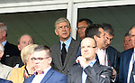 Arsenal Manager Arsène Wenger at the Stade Bollaert-Delelis in Lens, France this afternoon during the Euro 2016 Group B fixture between England and Wales.