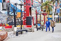 Cuba, Havana.  Callejon de Hamel Murals, Central Havana.