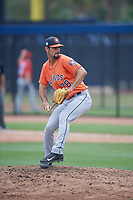 Houston Astros Carlos Sierra (78) during a minor league Spring Training game against the Washington Nationals on March 28, 2017 at the FITTEAM Ballpark of the Palm Beaches in West Palm Beach, Florida.  (Mike Janes/Four Seam Images)
