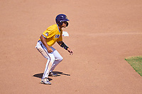 East Carolina Pirates Jacob Starling (10) leads off during a game against the Memphis Tigers on May 25, 2021 at BayCare Ballpark in Clearwater, Florida.  (Mike Janes/Four Seam Images)