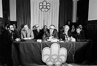 Conference de presse du COJO,<br /> le 3 Janvier 1973,<br /> <br /> <br /> <br /> PHOTO  : Agence Quebec Presse - Alain Renaud