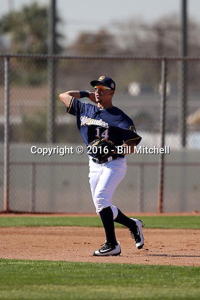 Hernan Perez - Milwaukee Brewers 2016 spring training (Bill Mitchell)
